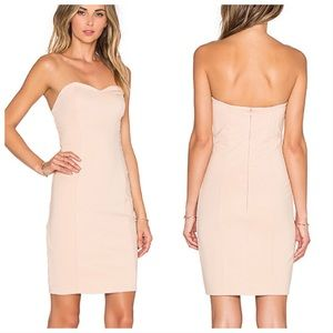 LOVERS + FRIENDS Strapless Staple Dress in Nude